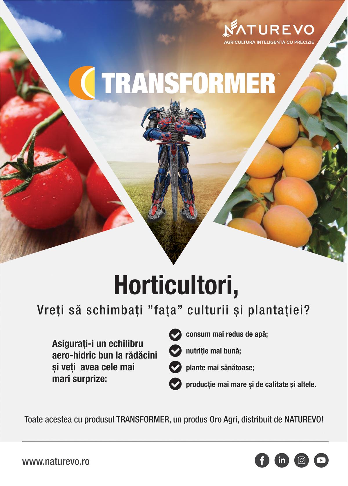 MACHETA TRANSFORMER HORTICULTORI